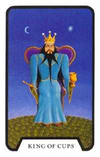 King of Cups Tarot Card - Tarot of the Witches Tarot Deck