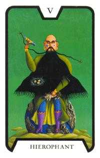 The Pope Tarot Card - Tarot of the Witches Tarot Deck