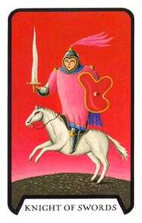 Knight of Swords Tarot Card - Tarot of the Witches Tarot Deck