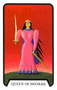 Queen of Swords Tarot Card - Tarot of the Witches Tarot Deck