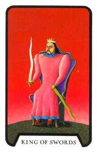 Roi of Swords Tarot Card - Tarot of the Witches Tarot Deck