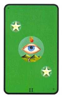 Two of Diamonds Tarot Card - Tarot of the Witches Tarot Deck