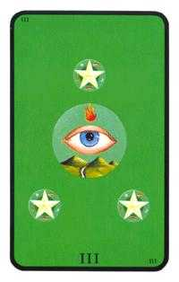 Three of Discs Tarot Card - Tarot of the Witches Tarot Deck
