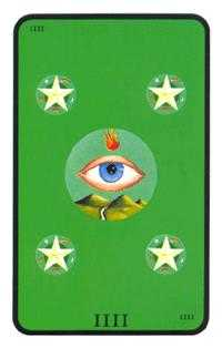 Four of Discs Tarot Card - Tarot of the Witches Tarot Deck