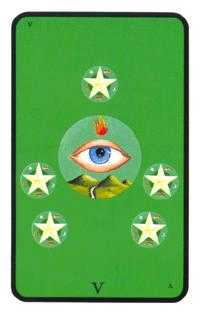 Five of Diamonds Tarot Card - Tarot of the Witches Tarot Deck