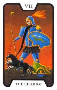 The Chariot Tarot Card - Tarot of the Witches Tarot Deck