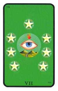 Seven of Discs Tarot Card - Tarot of the Witches Tarot Deck
