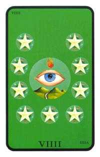 Nine of Discs Tarot Card - Tarot of the Witches Tarot Deck