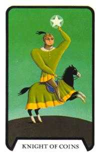 Cavalier of Coins Tarot Card - Tarot of the Witches Tarot Deck