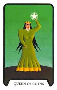 Queen of Coins Tarot Card - Tarot of the Witches Tarot Deck