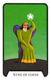 King of Diamonds Tarot Card - Tarot of the Witches Tarot Deck