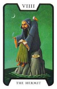 The Hermit Tarot Card - Tarot of the Witches Tarot Deck