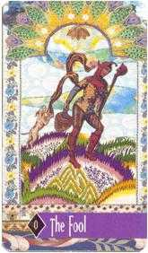 The Foolish Man Tarot Card - Zerner Farber Tarot Deck