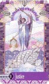 Justice Tarot Card - Zerner Farber Tarot Deck