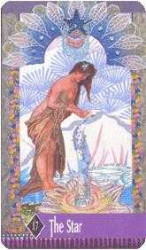 The Star Tarot Card - Zerner Farber Tarot Deck