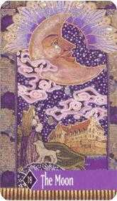 The Moon Tarot Card - Zerner Farber Tarot Deck