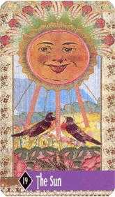 The Sun Tarot Card - Zerner Farber Tarot Deck