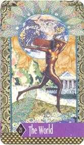 The World Tarot Card - Zerner Farber Tarot Deck