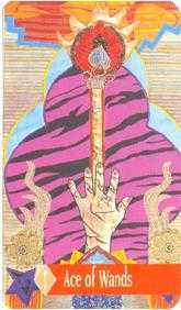 Ace of Rods Tarot Card - Zerner Farber Tarot Deck