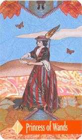 Daughter of Wands Tarot Card - Zerner Farber Tarot Deck