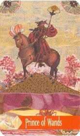Knight of Rods Tarot Card - Zerner Farber Tarot Deck