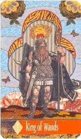 King of Staves Tarot Card - Zerner Farber Tarot Deck