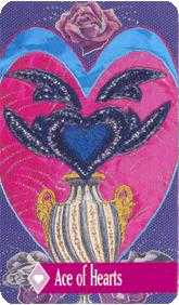 Ace of Hearts Tarot Card - Zerner Farber Tarot Deck