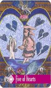 Five of Bowls Tarot Card - Zerner Farber Tarot Deck