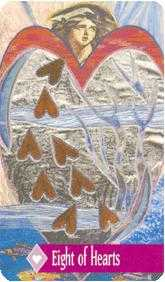 Eight of Hearts Tarot Card - Zerner Farber Tarot Deck