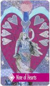 Nine of Hearts Tarot Card - Zerner Farber Tarot Deck