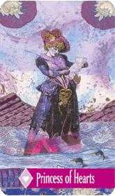Princess of Hearts Tarot Card - Zerner Farber Tarot Deck