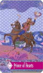 Knight of Hearts Tarot Card - Zerner Farber Tarot Deck