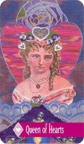 Queen of Hearts Tarot Card - Zerner Farber Tarot Deck