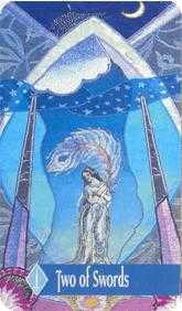 Two of Wind Tarot Card - Zerner Farber Tarot Deck
