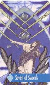 Seven of Swords Tarot Card - Zerner Farber Tarot Deck