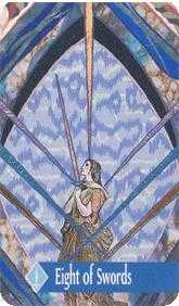 Eight of Arrows Tarot Card - Zerner Farber Tarot Deck