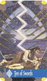 Ten of Arrows Tarot Card - Zerner Farber Tarot Deck