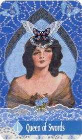 Queen of Swords Tarot Card - Zerner Farber Tarot Deck