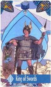 Roi of Swords Tarot Card - Zerner Farber Tarot Deck