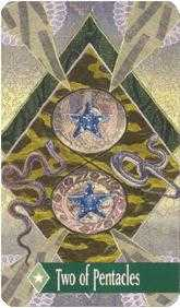 Two of Diamonds Tarot Card - Zerner Farber Tarot Deck