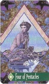 Four of Diamonds Tarot Card - Zerner Farber Tarot Deck