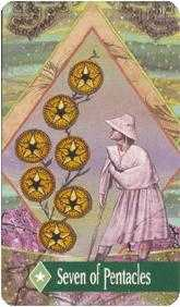 Seven of Diamonds Tarot Card - Zerner Farber Tarot Deck
