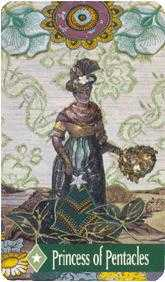 Princess of Pentacles Tarot Card - Zerner Farber Tarot Deck