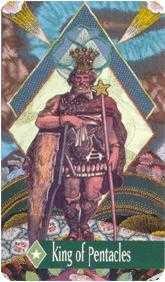 King of Diamonds Tarot Card - Zerner Farber Tarot Deck