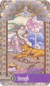 Strength Tarot Card - Zerner Farber Tarot Deck