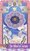 Wheel of Fortune Tarot card in Zerner Farber Tarot deck