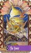 The Tower Tarot card in Zerner Farber Tarot deck