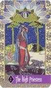 The High Priestess Tarot card in Zerner Farber Tarot deck