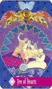 Ten of Hearts Tarot card in Zerner Farber Tarot deck