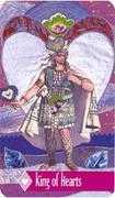 King of Hearts Tarot card in Zerner Farber Tarot deck